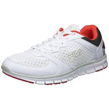 Fila Herren Men Base Comet Run Low Sneaker, Weiß (White), 45 EU