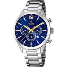 FESTINA Chronograph 'Timeless Chronograph, F20343/2' blau / gold / silber