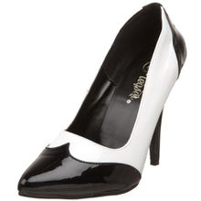 Pleaser SEDUCE-425, Damen Pumps, Weiß (Weiss (Blk-WHT Pat)), 38 EU (5 Damen UK)