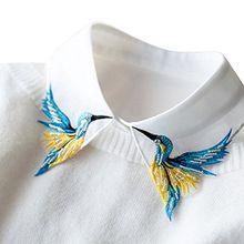 ZILucky Frauen Kragen Abnehmbare Hälfte Shirt Bluse Damen Falsches Hemd Pullover Kragen Reverskragen