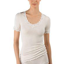 Calida Damen Unterhemd Richesse Lace, Gr. 42 (Herstellergröße: S=40/42), Beige (cream white 892)