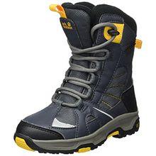 Jack Wolfskin Jungen Boys Snow Ride Texapore Trekking-& Wanderstiefel, Grau (Burly Yellow XT 3802), 36 EU