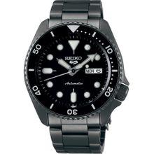 SEIKO Uhr graphit / schwarz / naturweiß
