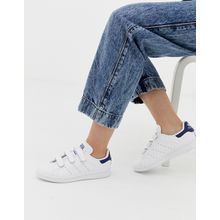 adidas Originals - Stan Smith CF - Sneaker in Weiß und Marineblau - Weiß