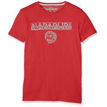 Napapijri Jungen T-Shirt K Spartan, Rot (Dark Coral P82), Gr. 162 (Herstellergröße:14)