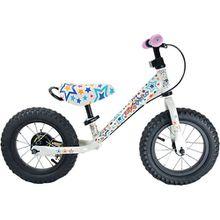 kiddimoto Metall Laufrad mit Bremse Stars, bunt mehrfarbig