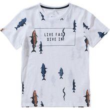 T-Shirt NKMIBRAHIM , Organic Cotton weiß Jungen Kinder