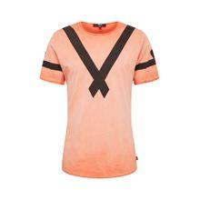Tigha Shirt 'Damba' orange / schwarz