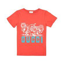 Gucci Jungen-T-Shirt - Rot (104, 116, 128, 140)