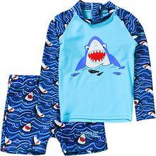 Kinder Schwimmanzug VALO RASH blau Mädchen Kinder