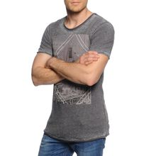Mishumo T-Shirt in grau für Herren