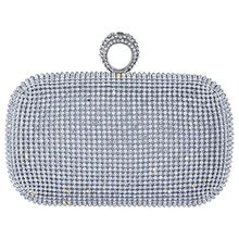 Bagood , Damen Clutch Gr. One size, silber