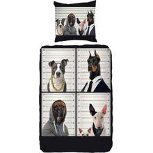Kinderbettwäsche Hunde, Renforcé, 135 x 200 cm