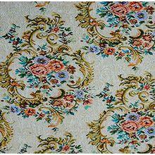 "Gobelin Stoff ""Fleur Glamour"" METERWARE Breite 150 cm Rose Blumen Gardinenstoff Dekostoff Jacquard Stoff Möbelstoff Romantik Jugendstil Shabby Chic Baroque"