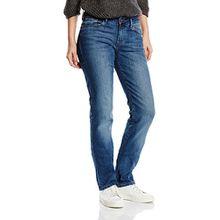 Cross Jeans Damen Straight Leg Jeanshose Rose, Gr. W33/L34 (Herstellergröße: 33), Blau (Dark mid Blue 029)
