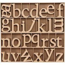 Holz-Buchstaben, H 8 cm, Stärke: 2 cm, 112 Stück, MDF
