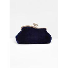 Velvet Clutch - Blue