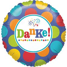 Folienballon Danke! mehrfarbig
