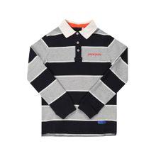 Pepe Jeans Shirt 'PIERRE' grau / dunkelorange / schwarz