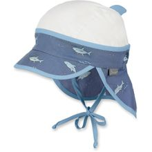 Sterntaler Schirmmütze mit Nackenschutz - Hai