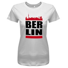 Berlin Skyline - Damen T-Shirt in Weiss by Jayess Gr. M
