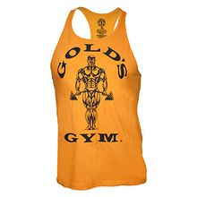 Golds Gym Classic Golds Gym Stringer Tank Top 100% Baumwolle (Yellow, M)