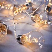 "BUTLERS LED-Lichterkette ""BULB LIGHTS"" 10 Lichter weiß"