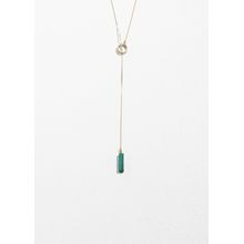Loop Through Stone Necklace - Green