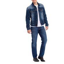 Cross Antonio - dunkelblaue Relaxed Fit Jeans im Used Look