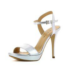 EVITA Damen Sandalette VALERIA Klassische Sandaletten silber Damen