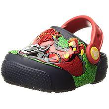 crocs Fun Lab Lights Clog Kids, Unisex - Kinder Clogs, Mehrfarbig (Robosaur Rex), 34/35 EU
