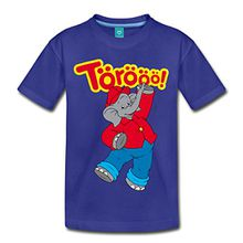 Spreadshirt Benjamin Blümchen Tanzend Törööö Kinder Premium T-Shirt, 98/104 (2 Jahre), Königsblau