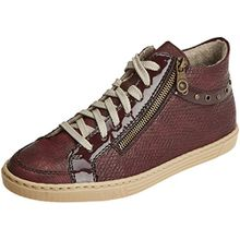 Rieker Damen L0949 Hohe Sneaker, Rot (Vinaccia/Bordeaux/Bordeaux), 42 EU