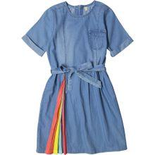 ESPRIT Jeanskleid blue denim / gelb / pastellrot
