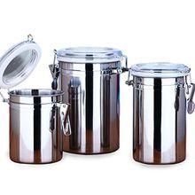 kaffeedosen aevel Kaffeebehälter, Edelstahl, Kaffee-Behälter, hält Kaffee für längere Zeit frisch, ideal für Kaffee / Zucker / Tee / Pasta, mit luftdichtem Deckel, Vakuumversiegelt, Aufbewahrungsbehälter, edelstahl, 1500ML