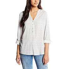 ESPRIT Damen Regular Fit Bluse Gepunktet, Gr. 34, Mehrfarbig (Off White 4 113)