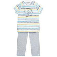 ESPRIT Bodywear Jungen Zweiteiliger Schlafanzug 017EF8Y003, Blau (Turquoise 470), 146 (116/122)