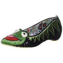 Irregular Choice Damen Kermit The Frog Pumps, Green (Green/Black), 43 EU