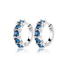Elli Ohrringe Creolen Swarovski® Kristalle Elegant 925 Silber Creolen blau Damen