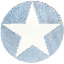 Happy Rugs Teppich, STAR blau/weiß, rund