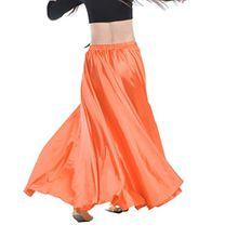 YouPue Damen Tanzkostüm Bauchtanz-Kostüm sexy High-End-Dual Rock Bauchtanz Leistungen große Rock Komfort (nicht enthalten Gürtel) Gürtel Kostüme Bauchtanz Taille Kette Orange