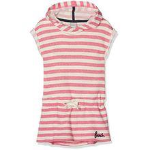 Bench Mädchen Kleid Hooded Sweat Dress, Rosa (Purple PK056), 176 (Herstellergröße: 15-16)