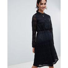 Yumi - Hemdkleid aus Spitze - Schwarz