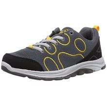 Jack Wolfskin FAIRPORT LOW K, Unisex-Kinder Sneakers, Grau (burly yellow 3800), 33 EU (1 Kinder UK)