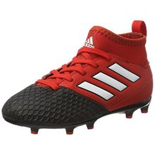 adidas Unisex-Kinder Ace 17.3 FG Stiefel, Rot (Red/FTWR White/Core Black), 34 EU