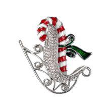 J. Jayz Brosche grün / rot / silber / weiß