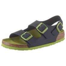 BIRKENSTOCK Sandale 'Milano' nachtblau / hellgrün