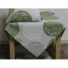 Tischdecke FUNCHAL KREISE 85x85cm grün grau weiß Hossner