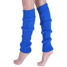 A&Z; Super Warme Damen Frauen Beinstulpen Stricken Stiefel Manschetten Socken Leg Knit Stulpen Warmers Socks Cuffs Knie 10 Farben (königsblau)