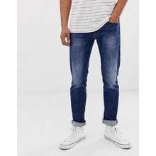 Replay - Gerade geschnittene Jeans in mittlerer Waschung - Blau